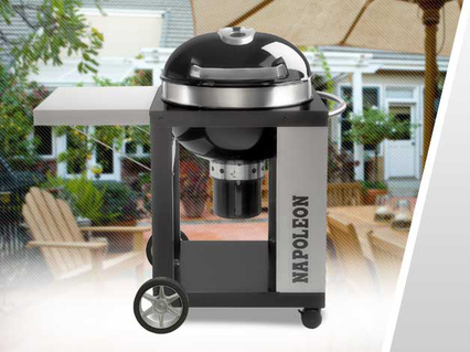 Napoleon Holzkohlegrill Charcoal Rodeo Professional Cart : Napoleon professional rodeo charcoal kettle bbq youtube